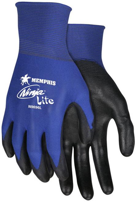 Memphis N9696 Blue Ninja Lite Gloves, 18 Gauge, Size Large, (12 Pair)