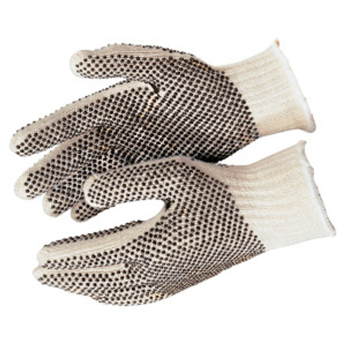 Memphis 9660XLM Glove PVC Dot String Knit Gloves Size X- Large (12 Pair)