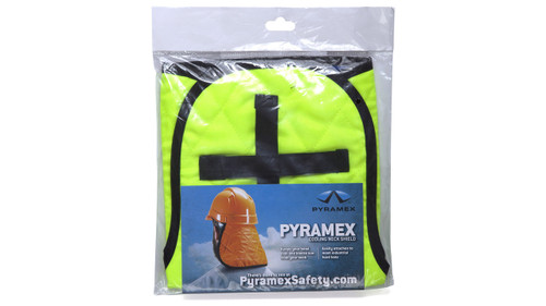 Pyramex CNS130 Hi-Vis Lime Cooling Hard Hat Pad & Neck Shade, (1 Each)