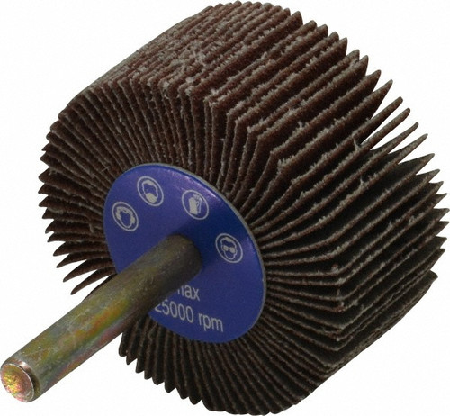 """Superior Abrasives 31810 1"""" X 1"""" Cost Control Mounted Flap Wheels X-Weight Cloth-A/O, 1/4"""" Shank, 80 Grit Qty. 10"""