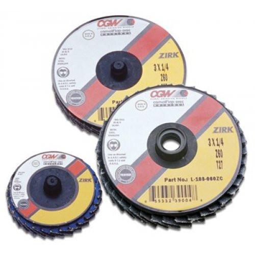 """CGW 30006 2"""" Z3 Mini Flap Disc, 120 grit"""