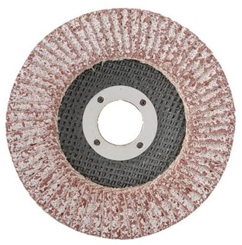 "CGW Abrasives 43104 4 1/2"" x 7/8"" Flap Discs, Aluminum, Regular Thickness, T29 60 Grit - Pack of 10"