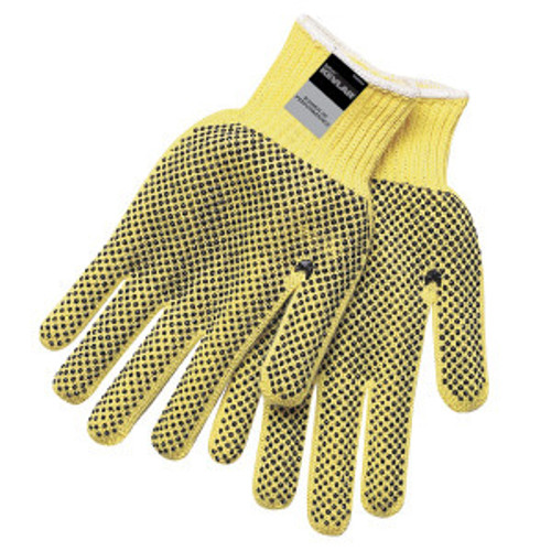 Memphis 9366S  Yellow 2-Sided PVC Dots Safety Gloves Size Small (1 Pair)