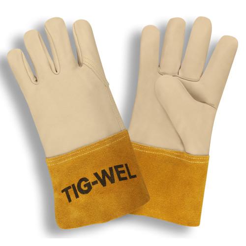 Cordova 8130L TIG-WEL Mig/Tig Welders Gloves, Premium Grain Cowhide, Kevlar Thread, Gauntlet Cuff, Large (12 pair)