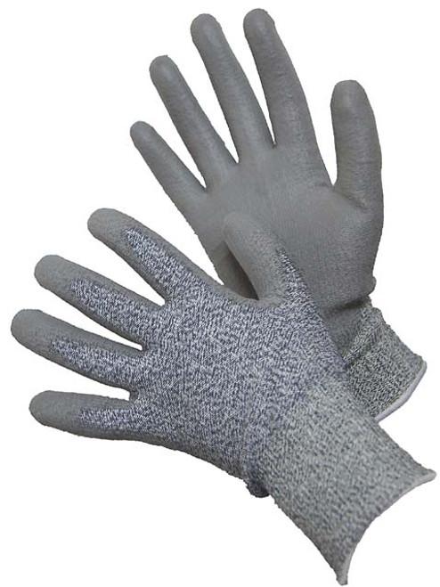 Major Glove 20-5538G, Grey, PU Cut Resistant Gloves, Large (12 Pair)