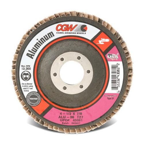 CGW 43084 - A3 w/ Calcium Stearate Coating Flap Disc (Qty. 10) (17-77743084.10)
