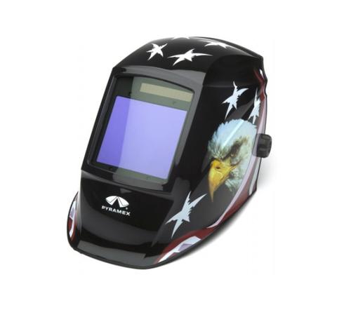 Pyramex - WHAM3030AE Leadhead Auto-Darkening Helmet, American Eagle (Qty. 1)