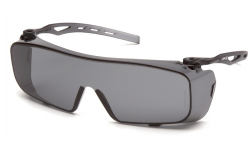 Pyramex S9920ST Cappture Safety Glasses Gray H2X Anti-Fog Lens with Gray Temples (12 pr)