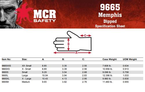 MCR 9665XXS - 13 Gauge White Nylon Shell, White PU Palm & Fingers, XXS (12 pr)