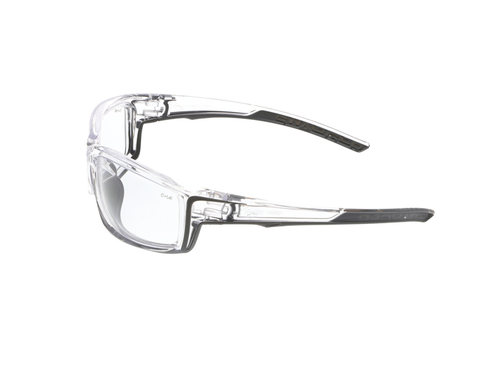 MCR Safety Swagger® SR410 Clear Frame, Clear Lens w/ Gray TPR (12 pr)
