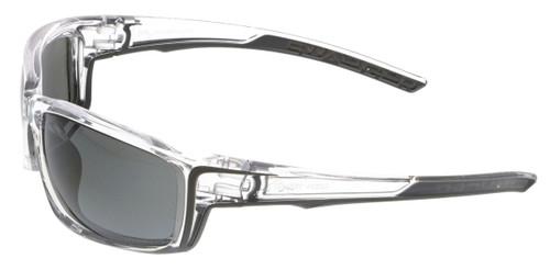 MCR Safety Swagger® SR417BZDC Black Mirror Polarized MAX36™ lens w/ Clear Frame (1 pr)
