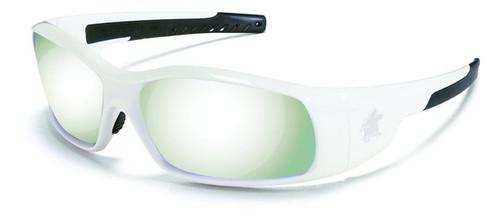 Crews SR127 Swagger Safety Glasses White Frame w/ Silver Mirror Lens (1 Pair)
