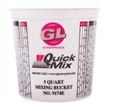 Quick Mix Measuring/Mixing Cups 5 Quarts #9174 Large 174 oz Graduated (25 Per Box)