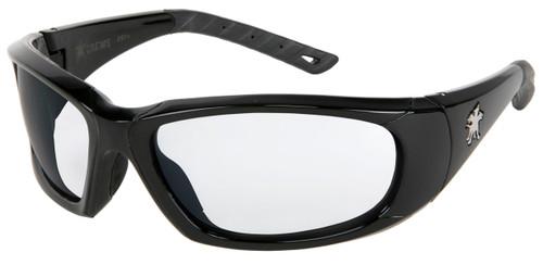Crews FF310AF ForceFlex Safety Glasses Opaque Black Frame, Clear Lens (1 Pair)