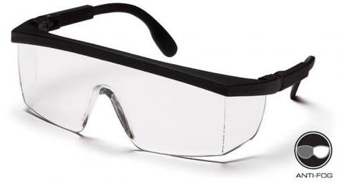Pyramex SB410ST Integra Safety Glasses Black with Clear Anti-Fog Lens (12 Pair)
