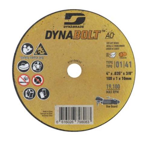 """Dynabrade 79808 DynaBolt AO 4"""" x .035"""" x 3/8"""" T1 Cut-off Wheel (Qty. 25)"""