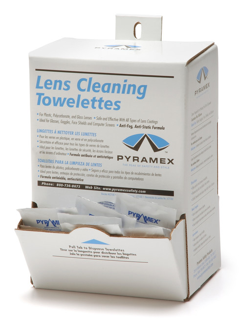Pyramex LCT100 Lens Cleaning Towelette Wipes Box (1 Each)