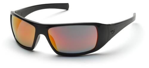 Pyramex SB5645D Goliath Safety Glasses, Frame: Black, Lens: Ice Orange  (12 Pair)