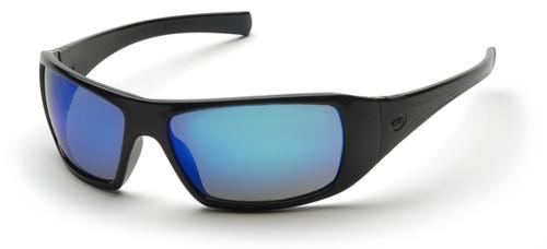 Pyramex SB5665D Goliath Safety Glasses, Frame: Black, Lens: Ice Blue Mirror (12 Pair)