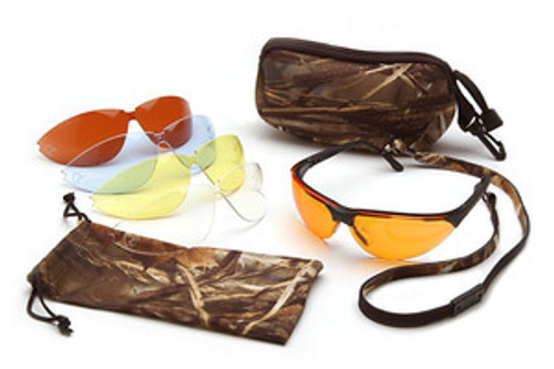Ducks Unlimited Shooting Glasses by Pyramex with Case & Lenses DUCAB (1 Each)