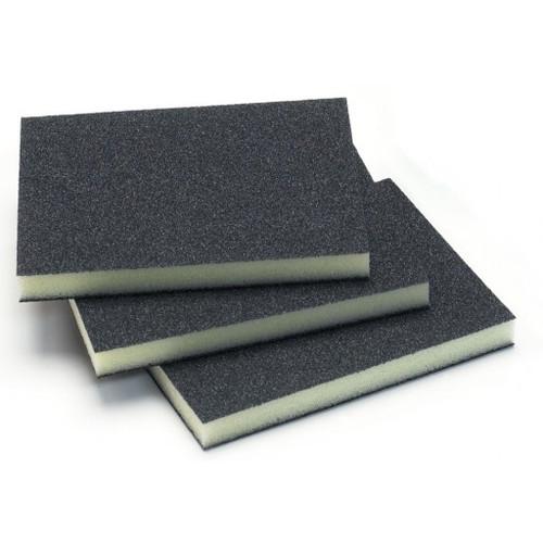 """Mirka 1350-220 - 3-3/4"""" x 4-3/4"""" x 1/2"""" Four Sided Abrasive Sponge 220 Grit"""