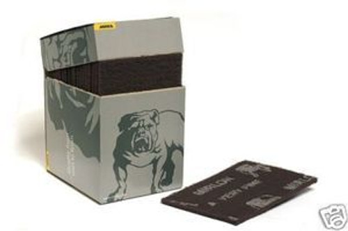 "Mirka Mirlon 18-111-448 - 6"" x 9"", Ultra Fine, Scuff Pad, (Gray) (20 Per Box)"