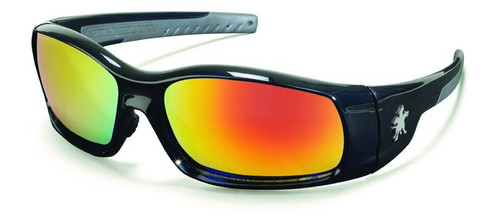Crews SR11R Swagger Safety Glasses Black Frame with Fire Mirror Lens (12 Pair)