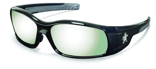 Crews SR117 Swagger Safety Glasses Black Frame w/ Silver Mirror Lens (12 Pair)