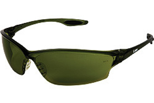 Crews LW2150 Law 2 Safety Glasses Smoke Temple,w/Green Filter 5.0 Lens (12 Pair)