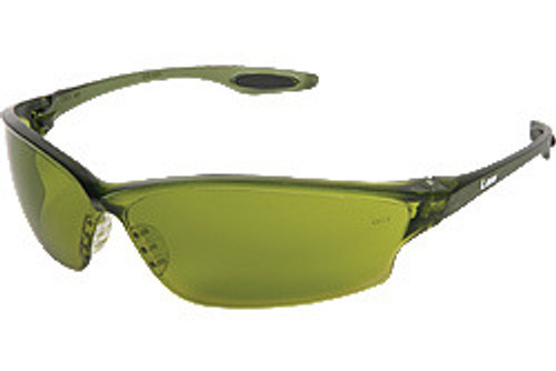 Crews LW2120 Law 2 Safety Glasses Smoke Temple,w/Green Filter 2.0 Lens (12 Pair)