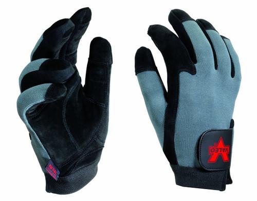 Valeo V425 Split-Leather Full-Finger Anti-Vibe Glove