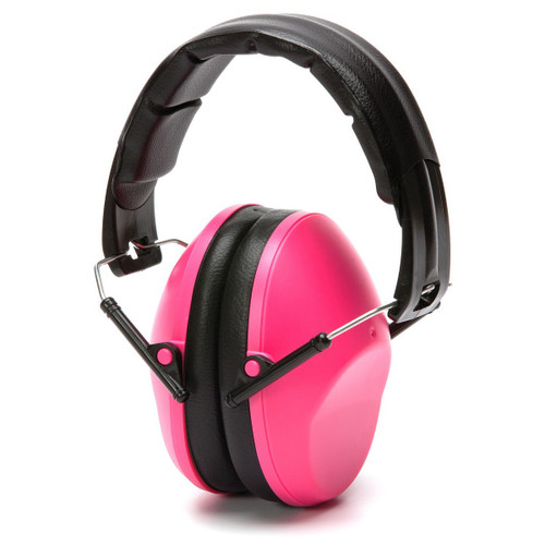 Pyramex PM9010P Womens/Youth Pink Earmuffs Hearing Protection Shooting NPR 22DB