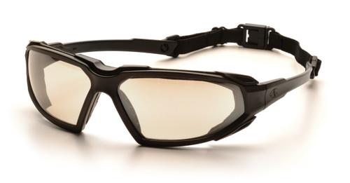 Pyramex SBB5080DT Highlander Safety Glasses, Frame: Black, Lens: Indoor/Outdoor Mirror Anti-Fog (12 Pair)