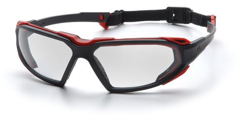 Pyramex SBR5010DT Highlander Safety Glasses, Frame: Black-Red, Lens: Clear Anti-Fog (12 Pair)