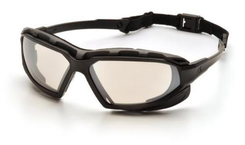 Pyramex SBG5080DT Highlander Plus Safety Glasses, Frame: Black-Gray, Lens: Indoor/Outdoor Mirror Anti-Fog (12 Pair)