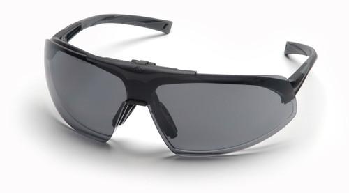 Pyramex SB4920STP Onix Plus Safety Glasses, Frame: Black, Lens: Clear Anti-Fog Bottom Lens/ Gray Flip Lens (12 Pair)