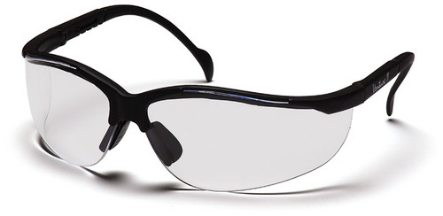 Pyramex SB1810S Venture II Safety Glasses, Frame: Black, Lens: Clear (12 Pair)