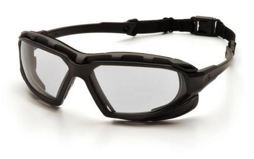 Pyramex SBG5010DT Highlander Plus Safety Glasses, Frame: Black-Gray, Lens: Clear Anti-Fog (12 Pair)