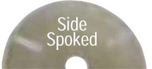 "Dynabrade 93650 5"" Dia. x 3/4"" CH Side Spoked Diamond Cut-Off Wheel, 40/50 Grit"