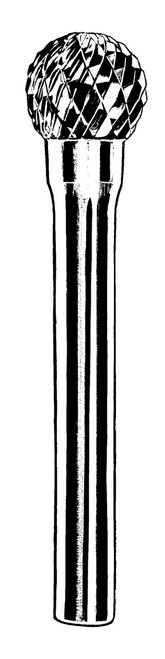Dynabrade 93372 Carbide Burr 3mm Dia. SD-42 D/C Burr Ball Radiused End