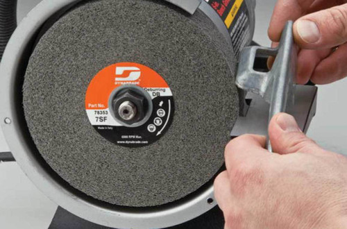 "Dynabrade 78136 - 6"" Dia. x 2"" W x 1"" CH 2S Medium S/C DynaBrite Multi-Finish Convolute Wheel"