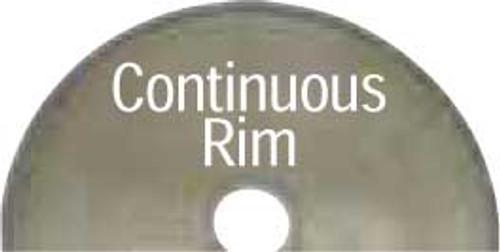 "Dynabrade 93917 3"" x 3/8"" CH 40/50 Grit Continuous Rim Diamond Cut-Off Wheel"