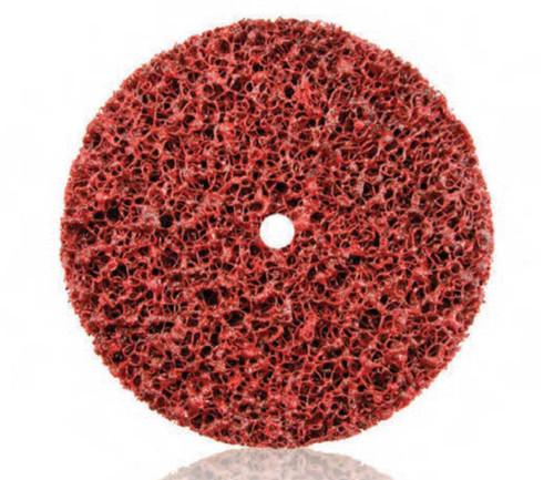"Dynabrade 78381 - 6"" (152mm) Dia. x 1/2"" (13mm) W x 1/2"" (13mm) CH Extra Coarse DynaStrip Red Wheel with Hole (Qty 10)"