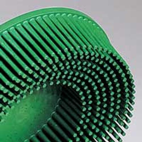 "Dynabrade 90915 - 4-1/2"" (114 mm) Dia. x 5/8-11 50 Grit Green 3M Bristle Disc (Qty. 25)"