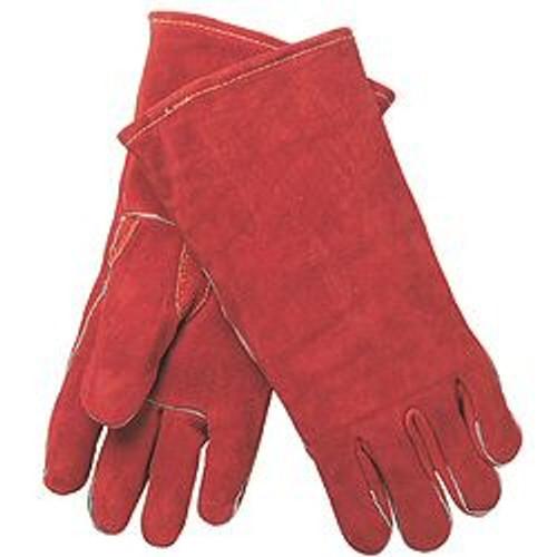 Memphis 4320 Russet Leather Gunn Pattern Welder Gloves, Sz L (12 Pair)