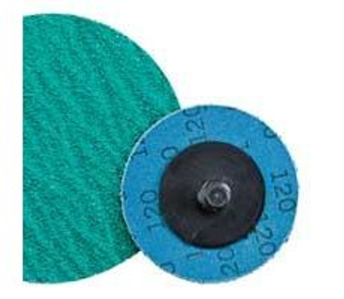 "Dynabrade 78098 - 2"" (51 mm) Dia. x 36 Grit A/Z Non-Vacuum DynaCut Locking-Type Disc (Qty 25)"