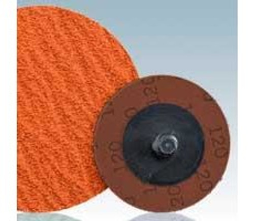 "Dynabrade 93095 - 3"" (76 mm) Dia. x 80 Grit Premium Ceramic Non-Vacuum DynaCut Locking-Type Disc (Qty 25)"
