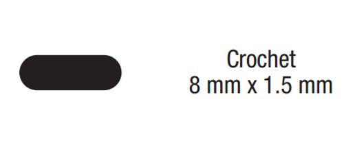 "Dynabrade 90940 - 90 mm L Crochet Swiss ""00"" Very Coarse Reciprocating File 03 mm x 15 mm Long Tang"