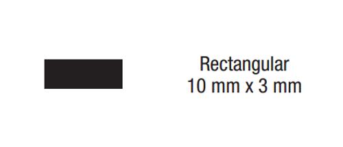 "Dynabrade 90985 - 140 mm L Rectangular Swiss ""0"" Coarse Reciprocating File 06 mm x 30 mm Long Tang"