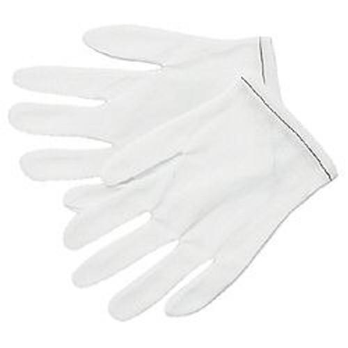 Memphis 8700 Mens White Nylon Inspector Gloves Light Wght, Sz Large (12 Pair)